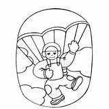 Coloring Diving Sky Skydiving Pages Boy Drawing Sheet Printable Scuba Getcolorings Getdrawings sketch template