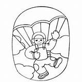 Coloring Diving Sky Pages Skydiving Boy Drawing Scuba Sheet Printable Template Skydiver Getdrawings Getcolorings Sketch sketch template
