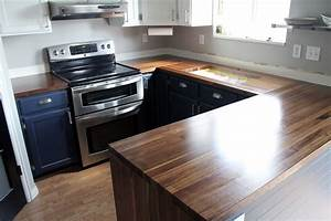 How To Finish Wood Countertops In Kitchen Reclaimed Wood