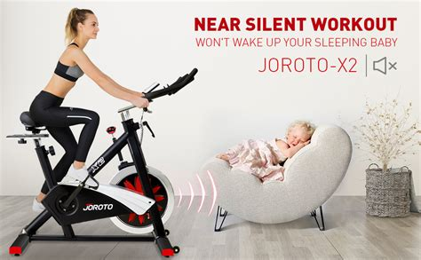 Joroto X2 Magnetic Indoor Cycling Bike with Belt Drive ...
