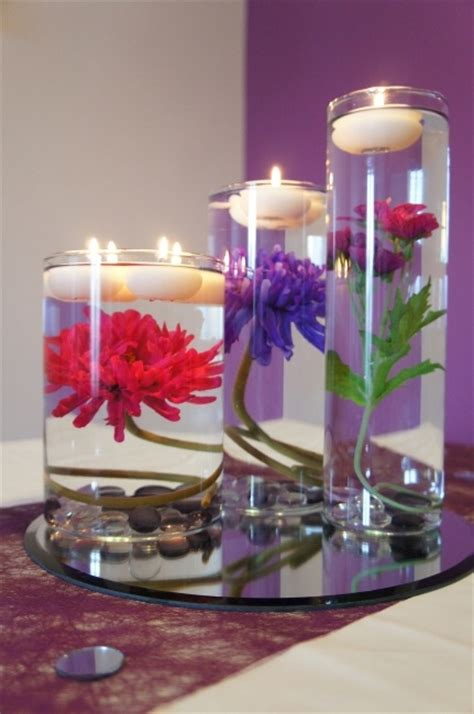 table decorations candles wedding table decoration flower in water wedding ideas