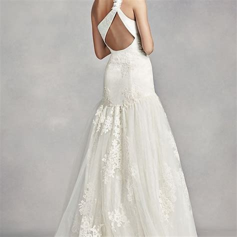 Vera Wang Dresses White By One Shoulder Lace Wedding
