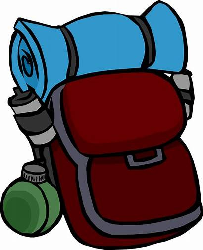 Backpack Camping Clipart Clip Penguin Transparent Wiki