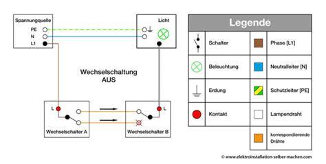 wechselschalter elektroinstallation kontrollschaltung