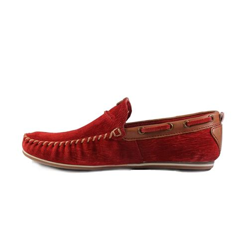 Poshmark makes shopping fun, affordable & easy! Bugatti 46960 Red Suede Leather Mens Slip On Moccasin Boat Shoe - Bugatti from North Shoes UK
