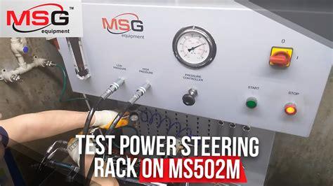 test power steering rack  msm youtube