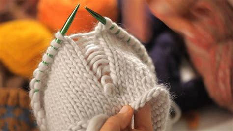 create false seams  circular knitting howcast