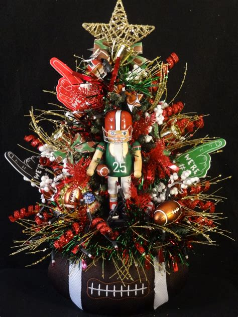 football christmas treefootball by designsbyheartworks on etsy