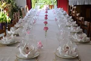 Decoration Pour Bapteme Fille : d coration de bapt me en rose et blanc cuisine bien tre ~ Mglfilm.com Idées de Décoration