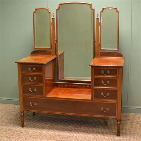 antique vanity table spectacular inlaid mahogany antique dressing