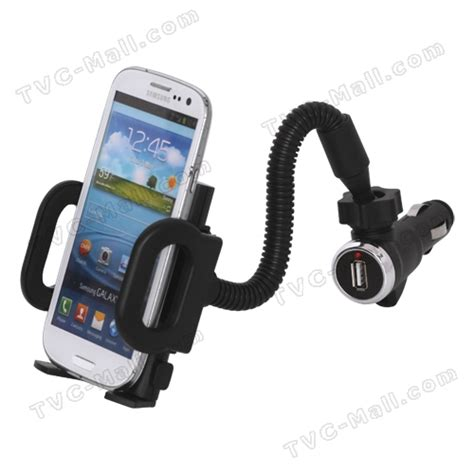 smartphone car mount universal smartphone car mount with usb car charger for