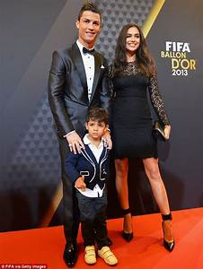 Ronaldo Struggles To Hold Back Tears As Son Joins Him To
