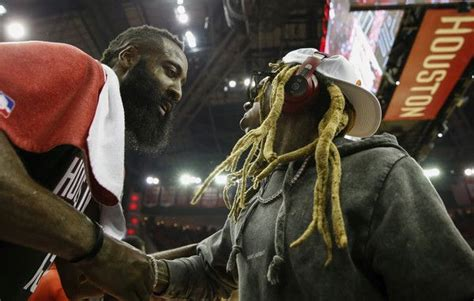 Lil Wayne and James Harden Photos Photos: Utah Jazz vs ...