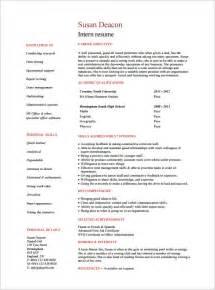 student resume format pdf internship resume template 11 free sles exles psd format free premium