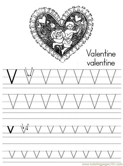 alphabet abc letter  valentine coloring pages