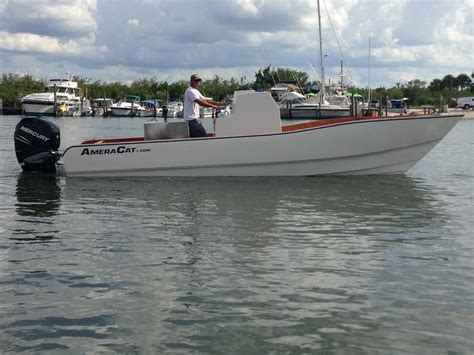 Ameracat Boats by 25 Single Engine Prototype Ameracat Center Console