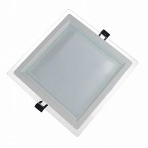 Dimmable glass led panel light square w ceiling recessed