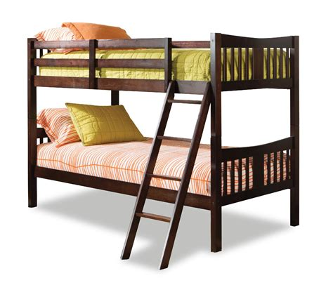 storkcraft caribou bunk bed espresso