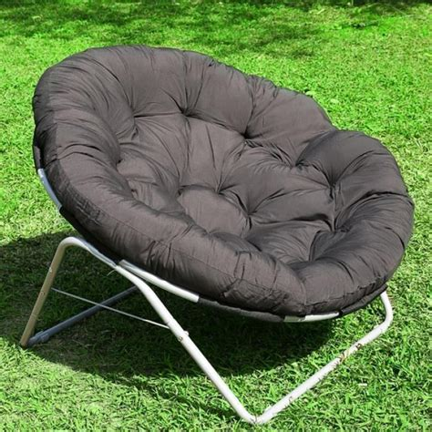 chaise exterieure homdox chaise de jardin extérieure lune cour ronde coussin