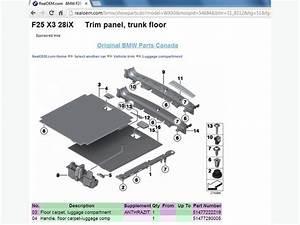 Oem Bmw X3 F25 Trunk Luggage Cover Floor Hooks Mirror Trim