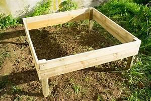 Faire Un Petit Potager En Carré : faire un carre potager en bois ekipia ~ Melissatoandfro.com Idées de Décoration