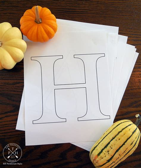 printable letters    diy harvest sign stencil