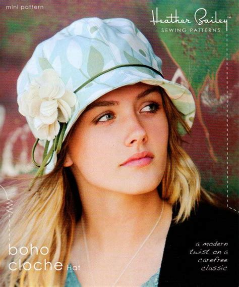 heather bailey boho cloche hat sewing pattern  shipping