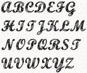alphabet script 4 inch stencil by linleys designs craftsy With script letter stencils