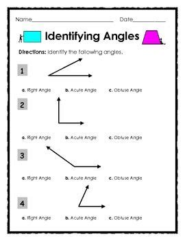 elementary geometry identifying right obtuse and acute