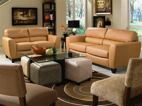 butterscotch leather sofa and loveseat package the