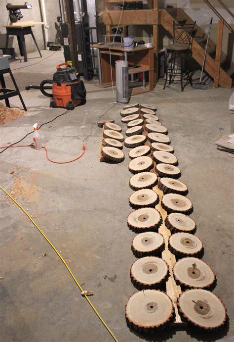 wood tree slab wedding centerpieces  acacia  zelkova