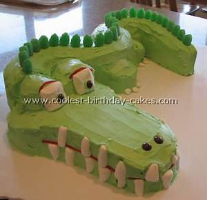alligator cake template wwwimgarcadecom online image With crocodile birthday cake template