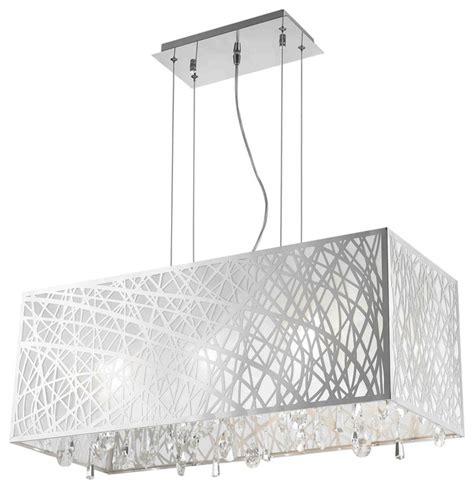 chandelier inspiring rectangular drum shade chandelier