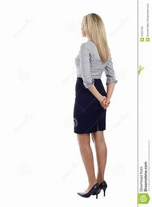 Business Woman From The Back Stock Image