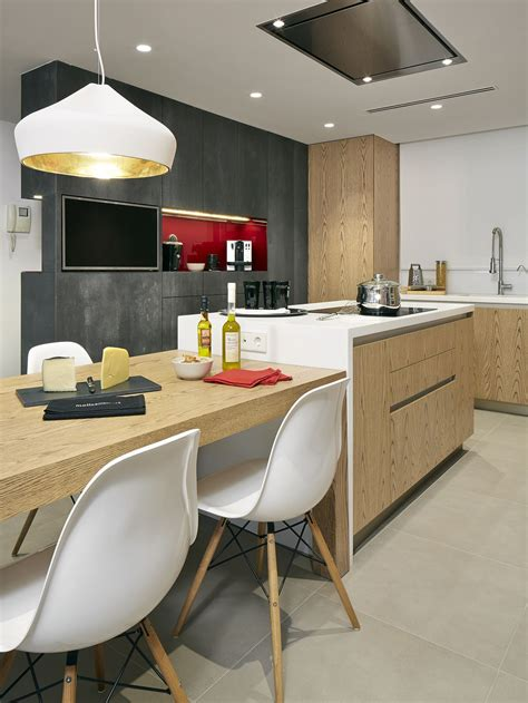 molins interiors arquitectura interior cocina comedor isla mesa mobiliario