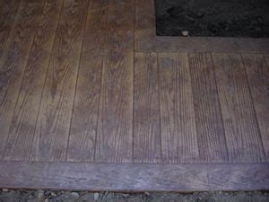 wood stamped concrete ideas  pinterest