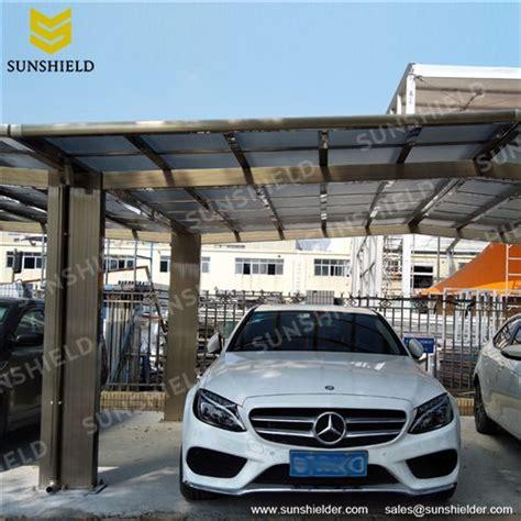 metal car canopy prefab flat roof patio sunshield