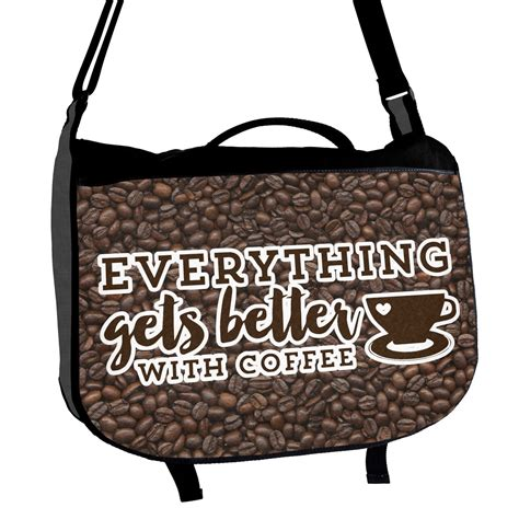 Bread and coffee, two daily staples, both done excellently, sourced carefully and enjoyed in tandem. Coffee Addict Messenger Bag (Personalized) - YouCustomizeIt