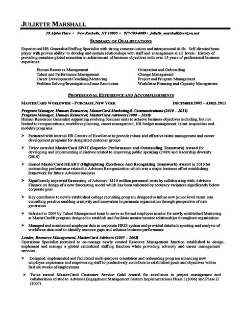 General Resume Summary Of Qualifications by Sle Summary Of Qualifications Free