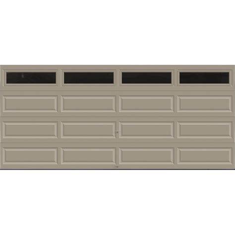 16 x 9 insulated garage door clopay premium series 16 ft x 7 ft 18 4 r value