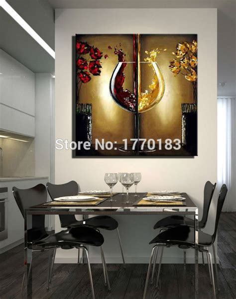 the wine glass painting handmade modern abstract flower paintings large canvas cheap