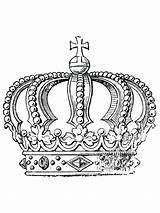 Coloring Pages Adult Crown Cool King Symbols Wearing Printables Gaddynippercrayons sketch template