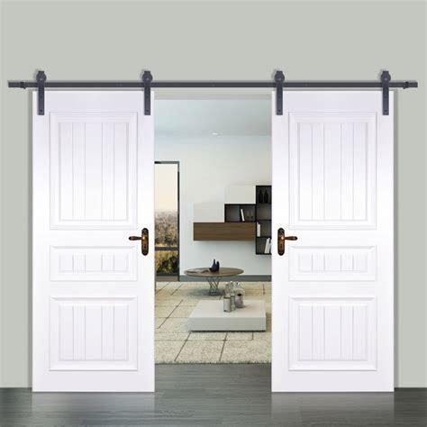 Vevor 12ft Modern Interior Double Sliding Barn Wood Door