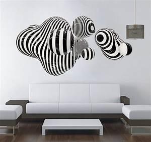 3d Wall Art : 3d shape wall art abstract sticker op art online store powered by storenvy ~ Sanjose-hotels-ca.com Haus und Dekorationen