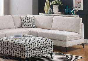 Crocosmia sectional sofa 53100 in beige chenille by acme for Beige chenille sectional sofa