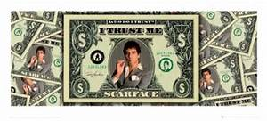 I Trust Me, Scarface Print - Buy Online