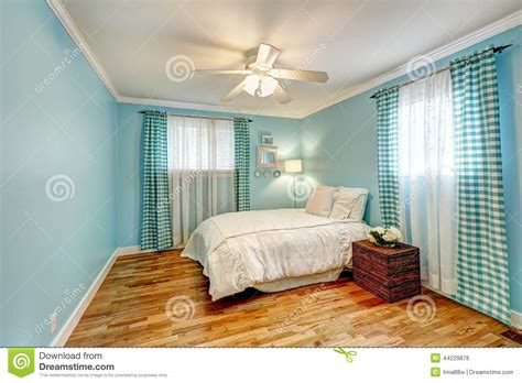 2 Bedroom House Floor Plans Free by Cheerful Light Blue Bedroom Stock Photo Image 44229876