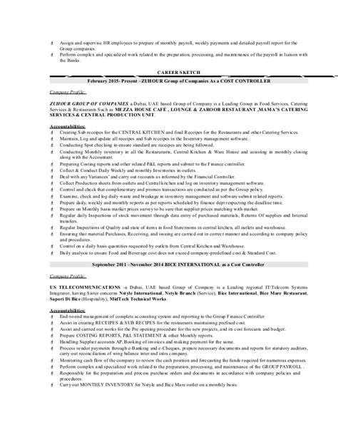 controller resume exle bank branch controller resume