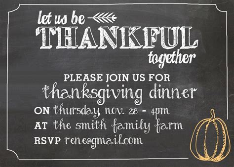 thanksgiving invitation freebie  printable