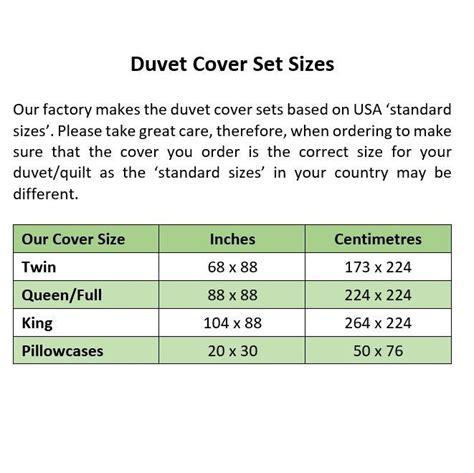 Duvet Sizes by Bed Linen Astounding Duvet Cover Size Chart